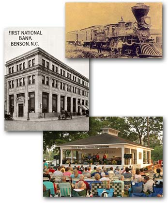 Pictures of Benson including the First National Bank of Benson
