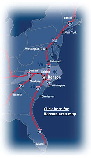 Benson Area Map