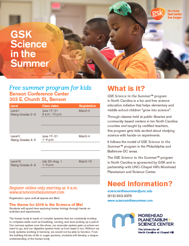 Science in Summer Flyer
